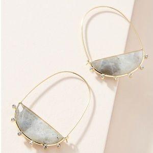 Anthropologie Farin Crescent Hoop Earrings